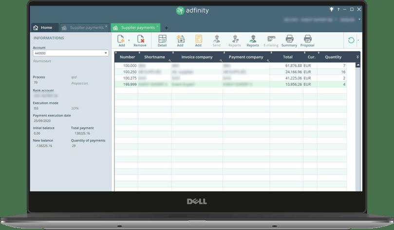 Adfinity-screen