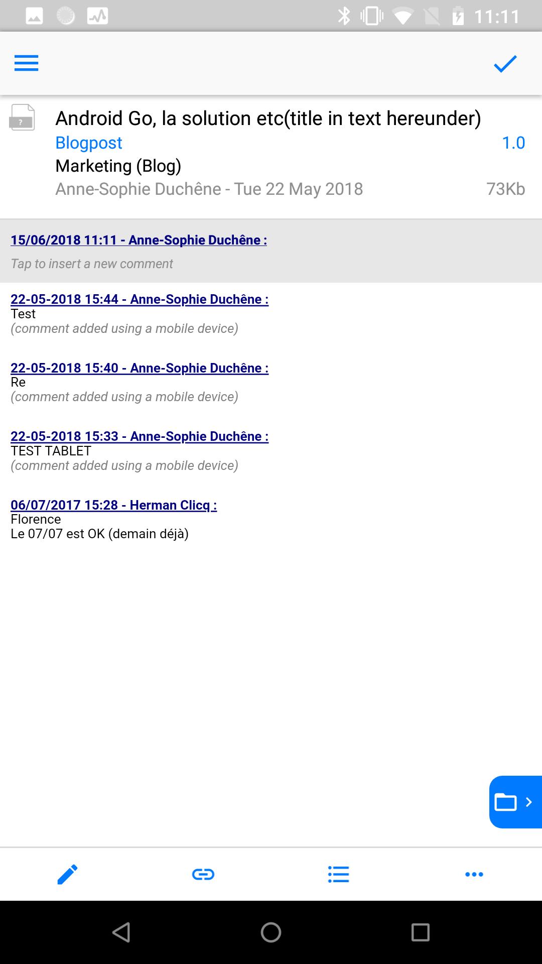 Screenshot SmartShare Document Management