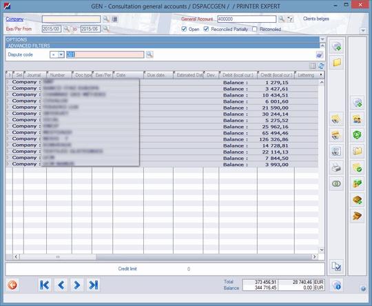 follow up factures impayées comptabilité code litige adfinity