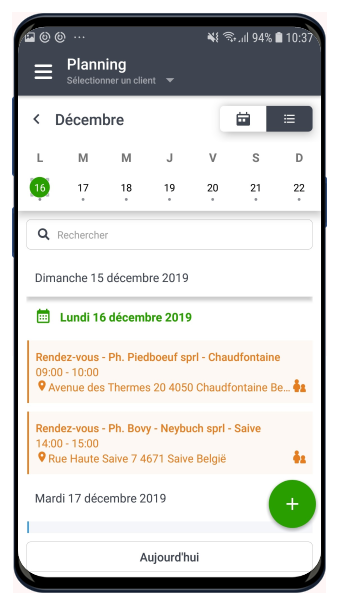 SmartSales on Androïd smartphone