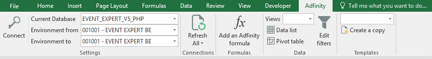 reporting excel accounting adfinity