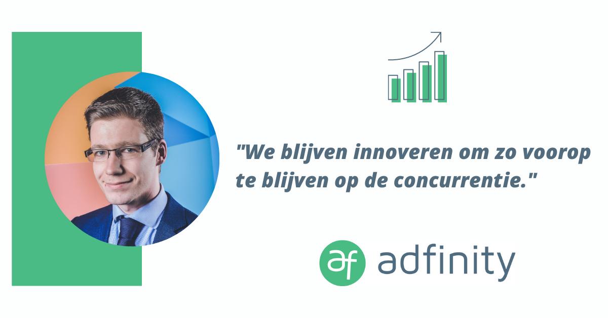 De groei van Adfinity in Vlaanderen