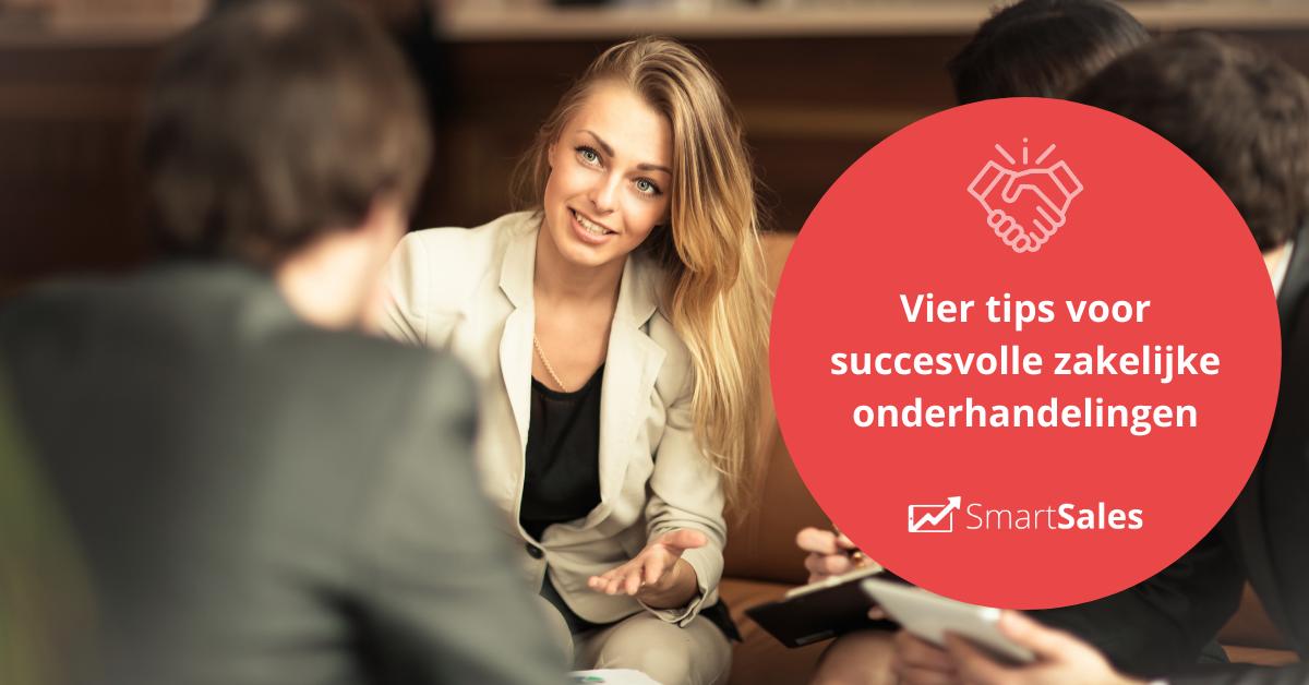 Vier tips voor succesvolle zakelijke onderhandelingen