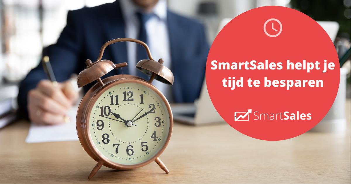 SmartSales helpt je tijd te besparen